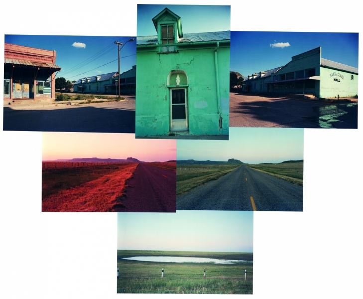 """SANTA CLARA IS THE PATRON SAINT OF WAGONMOUND, NEW MEXICO 19 X 19"""", Ektacolor prints on 22x30 paper mount, 1983-84"""