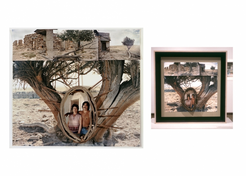 """DELPHA GRAHAM AND SON [ALL MY DREAMS ARE OF THAT PLACE) 23"""" X 25"""" print with object"""