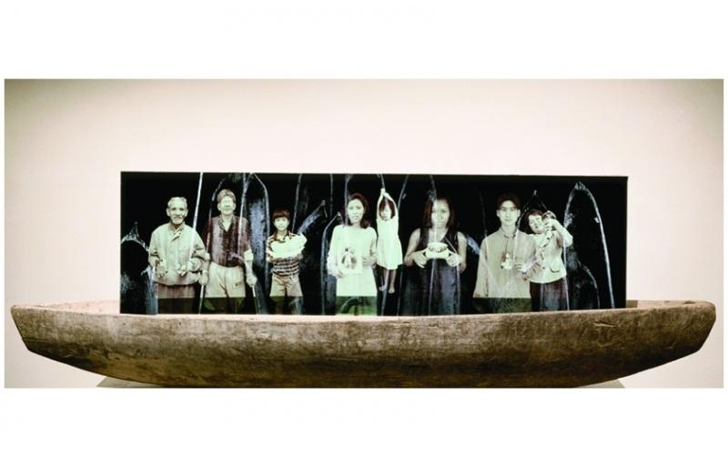 Volunteers,Millennial Forest/Trees at Sea, LewAllen Contemporary, June 2001