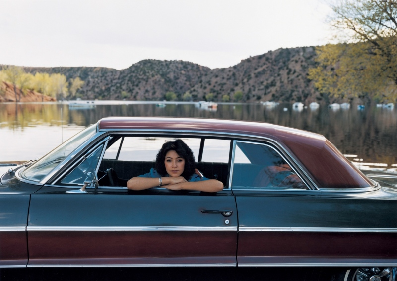 PEGGY MARTINEZ, 64' CHEVY TWO-TONE, SANTA CLARA LAKE, NEW MEXICO  1980