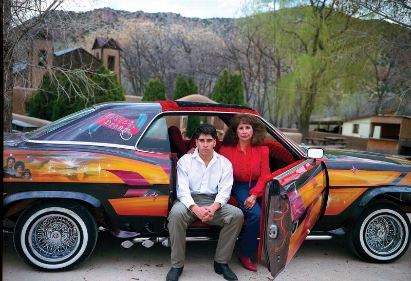 DAVE'S DREAM #2,  IRENE MARIA JARAMILLO AND DAVE JARAMILLO, JR., 60' 'FORD LTD, SANTUARIO DE CHIMAYO, NEW MEXICO 1992_