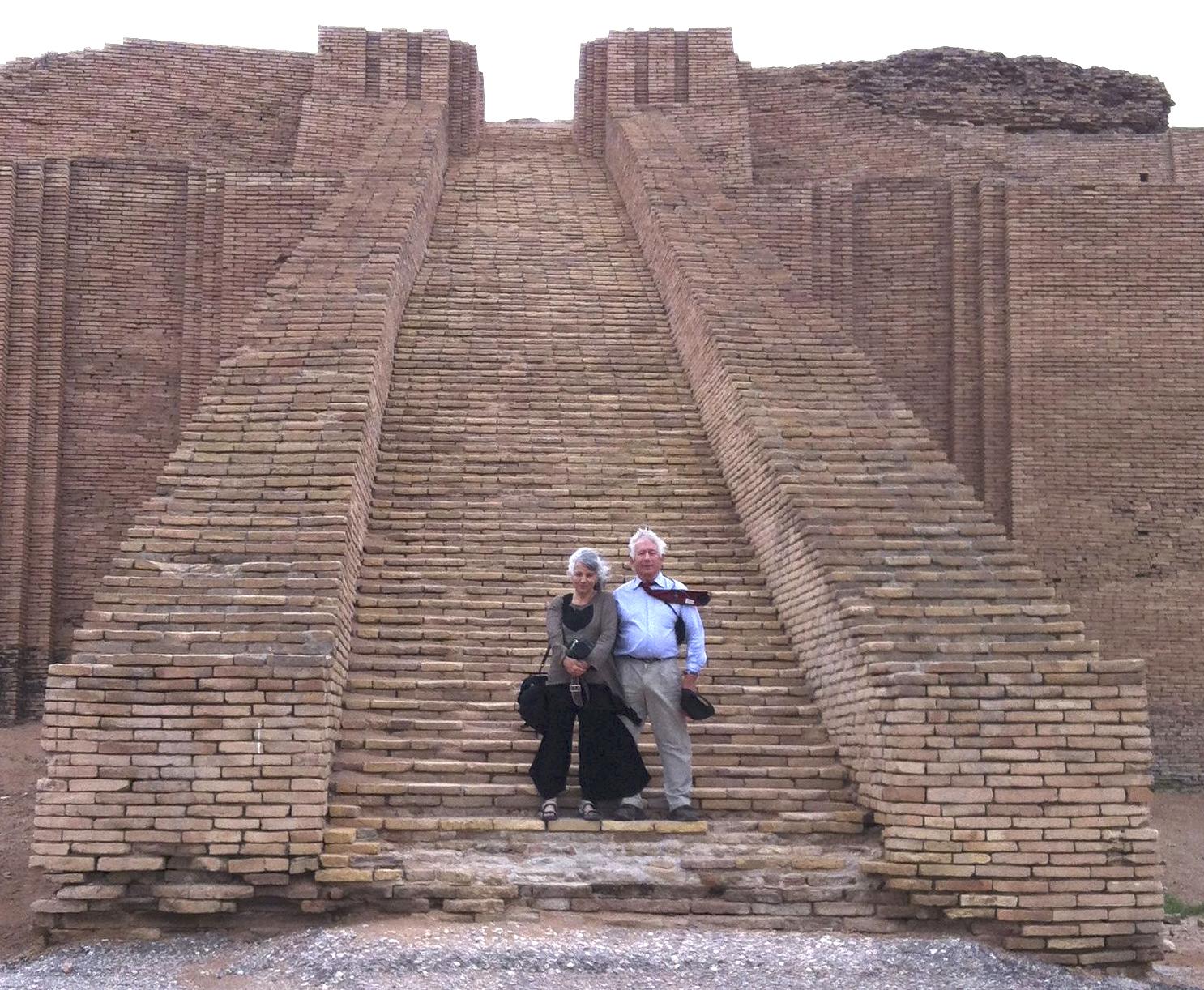 Meridel and Mark Nelson at ziggurat of Ur